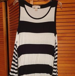 Michael Kors sleeveless side zipper top